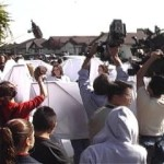 Angels Block Media Cameras